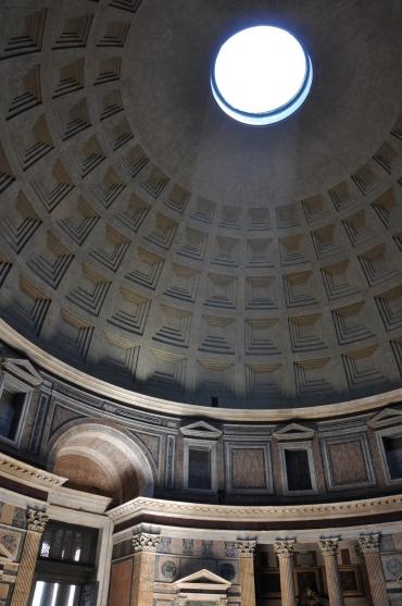 Cupola del Pantheon, Roma, luglio 2019